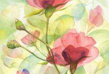 Paintings, watercolour etc