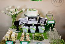 Green Party Ideas / It can be bit unusual colour for a party theme but if you mix green with pink and blue, it will look great.