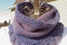 knitting cowls scarfs