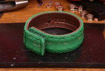 Bicycle tire bracelets / Wordwide unique highest quality recycled/upcycled tire bracelets