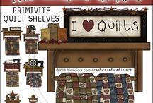 Primitive Graphics / shaker houses, quilts graphics, Americana, prim and country clip art digital graphics