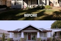 Before & After house exteriors