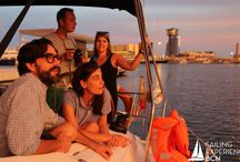 Sailing Experience Bcn- Sunset Tours / The right sunset is with the ones you love and a glass of cava in your hand!