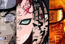 Naruto, Sasuke, Gaara, Neji