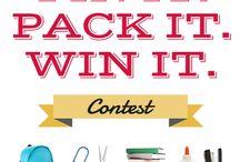 Pin it Pack it Win it / by Stephenie Sutton