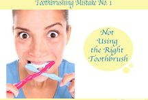 Tooth Brushing Mistakes / Frequent mistakes that we make when brushing our teeth.