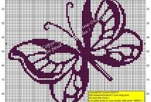 haft krzyżykowy - motylki / cross-stitch butterflies
