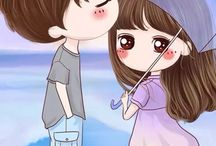 Couple cartoon