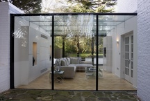 Project: Bishops Avenue / Glass box extension on the prestigious 'Millionaires Row' with bespoke flush glazed hinge doors. Used as the filming location  for The Apprentice 2006 season 2