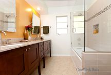 Bathroom Design 87 / A relaxing, traditional style master bathroom design.