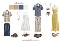 How to Dress for a Photoshoot / Here are some ideas of clothing and colour combinations that would work great for your photo session.