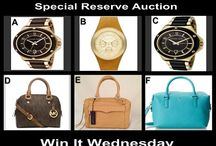 Win It Wednesday August  13 at 10 PM / Designer Reserve Choice Auctions - at 10 PM OneCentChic.com for Details