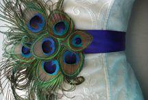 Örökvirág övek - Satin flower bridal sash