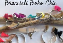 Custom Bangle - Boho-Chic / Our creations, custom for clients with quotes, tassels and love!
