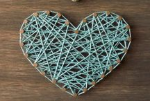 """String Art / Art created through the most common of craft supplies - string! These are some of my favs that """"one day"""" I'll attempt to do!"""