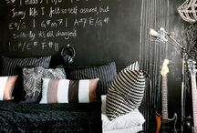 Paredes pizarra e imán · Magnet and chalkboard walls