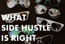 side hustle / Want to start a side hustle to make a little money on the side? Or even turn your side hustle into a full-time business and quit your day job? Follow this board for side hustle help!