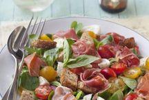 salade mache, jambon de bayonne,mozzarella