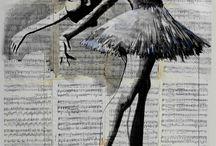 drawning ballerina