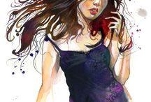 My Art \ / JUURI's Japanese-flavored & non-objective art. See more at juuriart.com and fasharthome.com / by JUURI Art