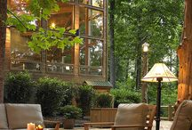 Outdoor Spaces / Entertaining in living and dining spaces outdoors. Design, decor ideas.
