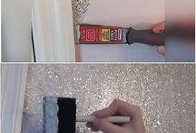 Glitter walls