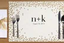 Wedding {personalised placemats}