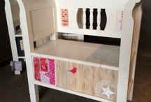 Babykamer - Oud is Nieuw / Origineel cadeau voor de pasgeborene of een mooie stoel voor op de babykamer.