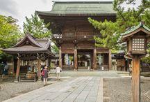 Hakusan Shrine in Niigata City, Japan.