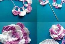Цветы крючком и спицами