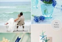 Shades of Blue Beach Ocean Seaside Wedding / Shades of Blue Beach Ocean Seaside Wedding Ideas