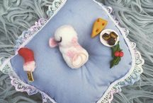 twas the night before christmas  needle felted mouse / twas the night before christmas mouse cute