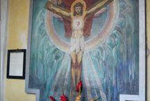 CHRYSTUS / w obrazie, fresku, na krzyżu, rzeźbie