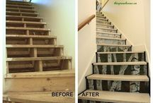 Wallpaper your stairs