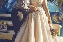 Robes de mariées colorées