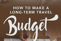 TRAVEL ★ Budget / Tips and articles on how to travel on a budget and save money for new adventures