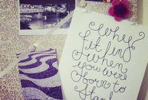 i n s p i r a t i o n s  / Beautiful things that inspire me.