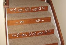 Carpet w Decorative Risers! / You can have the best of both worlds! Carpet with Decorative Stair Risers.