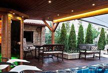 garden-sauna / sauny, posedenia pri krbe...