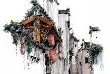 watercolor place