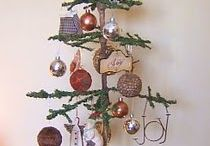 Old feather trees.....Country Christmas