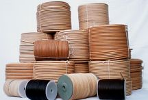 Leather cord / Our production of leather cord of very high quality. Production is from 3 to 14 mm and every roll is from just one piece without bonding. Maximum lenght is 300 m in one piece. We offer natural, brown, black, orange and dark green colour.