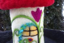 Felted Houses and Landscapes