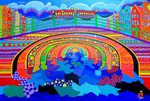 Amsterdam modern art / lots of colors, fun themes, happy, bright, kids