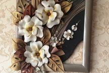 seramik  çiçek