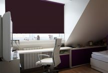 Blinds: Blackout Blinds / A vibrant selection of coloured blackout fabrics available on a UK standard or express delivery service
