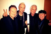 Klaus Meine and Rudolf Schenker with Jmmy Page and John Paul…