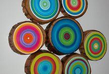 kreatív fa szeletek