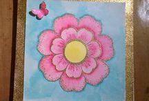 Watercolor class / Täällä näkyy kokeilut joita teen kurssilla.
