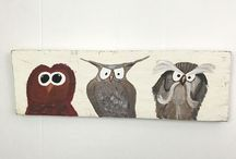 Fence Board Paintings